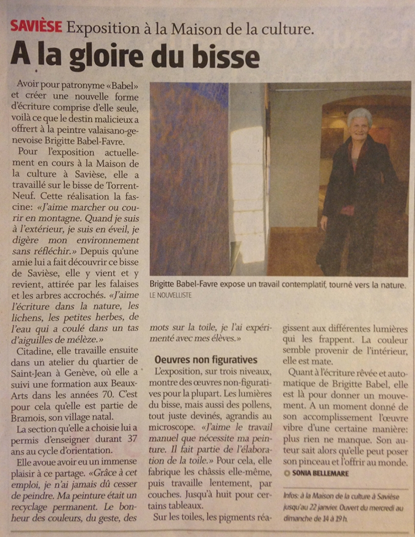 Le Nouvelliste - 19 décembre 2011 - Sonia Bellemare