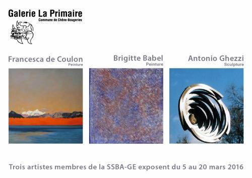 Prochaine exposition en Mars à la Galerie La Primaire à Conches
